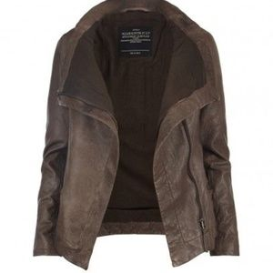 ALL SAINTS - Legacy Brown Leather Jacket US 8